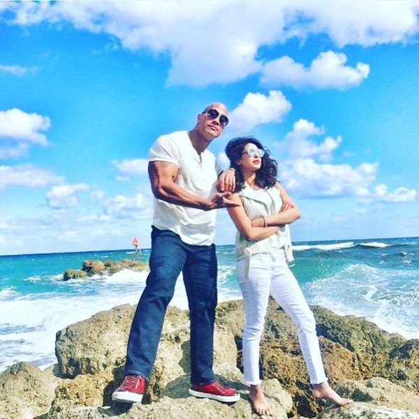 Priyanka Chopra,Priyanka Chopra joins Baywatch,Baywatch new villain,Priyanka Chopra as villain,Dwayne Johnson,the rock,Baywatch movie,priyanka chopra villain in baywatch,actress Priyanka Chopra,Priyanka Chopra new pics,Priyanka Chopra with Dwayne Johnson