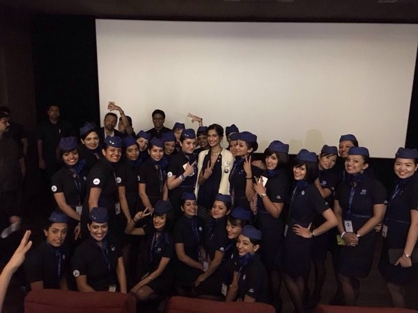 Sonam Kapoor,Neerja pays tribute to Air-hostess's,Sonam Neerja pays tribute to Air-hostess's,Team Neerja pays a tribute to Air-hostesses,Neerja,team Neerja,actress Sonam Kapoor,Neerja Bhanot