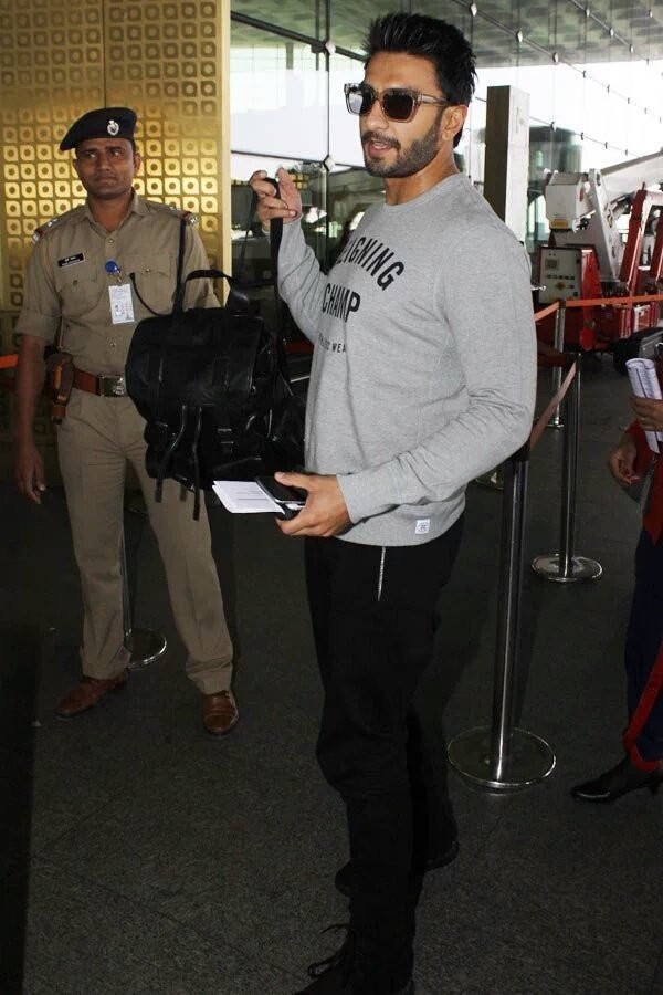 Ranveer Singh,Ranveer Singh off to Paris,Ranveer Singh Befikre movie,Befikre,bollywood movie Befikre,Ranveer Singh Befikre,Befikre movie pics,Befikre movie stills,Befikre movie pictures,Befikre movie photos,Ranveer Singh at Mumbai International airport,Ra