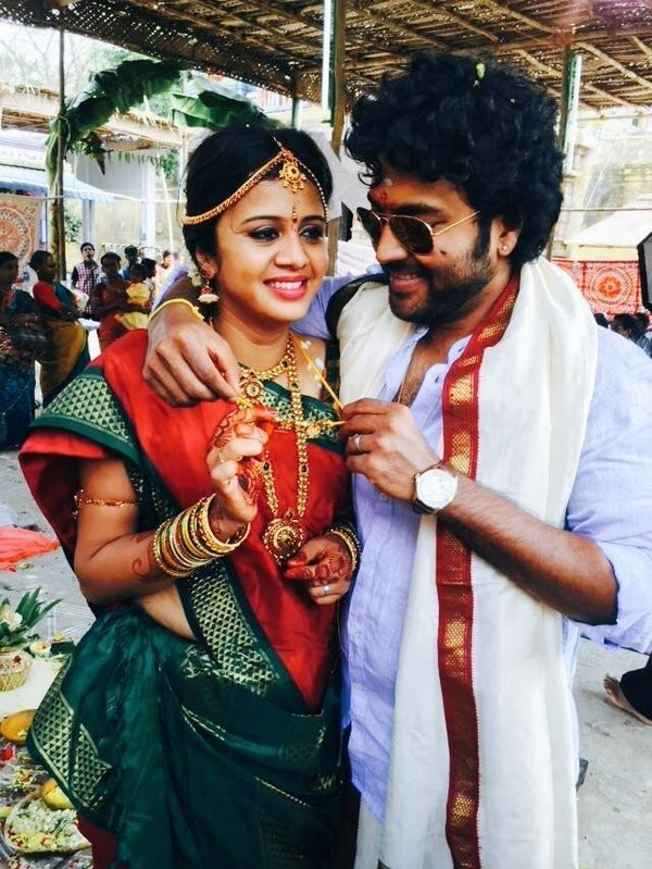 VJ Anjana Rangan,VJ Anjana Rangan marriage,VJ Anjana Rangan wedding,VJ Anjana Rangan and Chandran,VJ Anjana Rangan and Chandran wedding,VJ Anjana Rangan and Chandran marriage,Chandran wedding,Chandran marriage,Chandramouli marriage,Chandramouli wedding