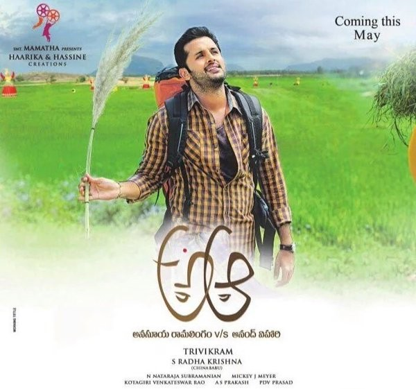 A..aa Pre-Look Poster: Nithin And Samantha