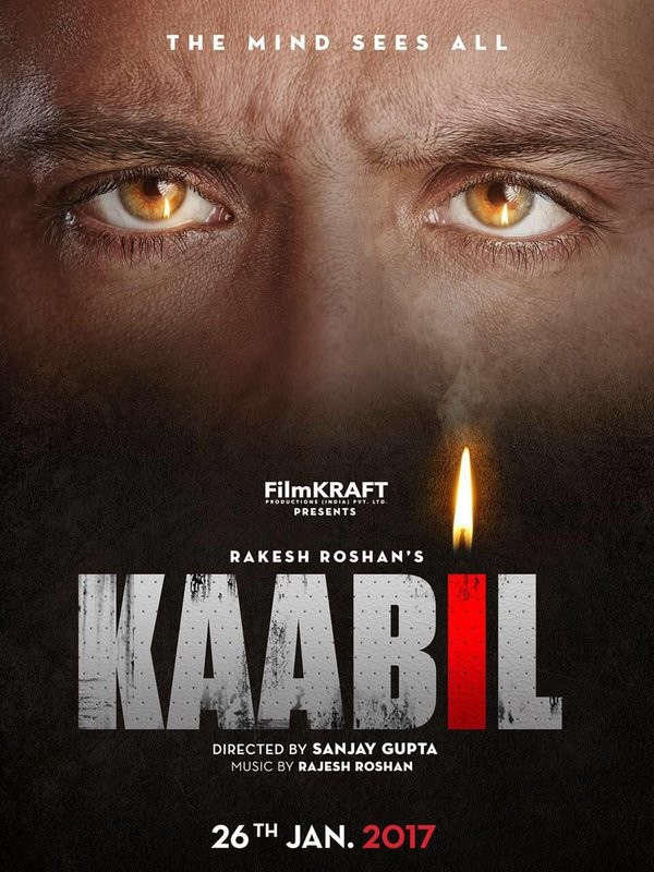 Hrithik Roshan,Hrithik Roshan's Kaabil first look revealed,Kaabil first look revealed,Kaabil first look,Kaabil first look poster,Kaabil poster