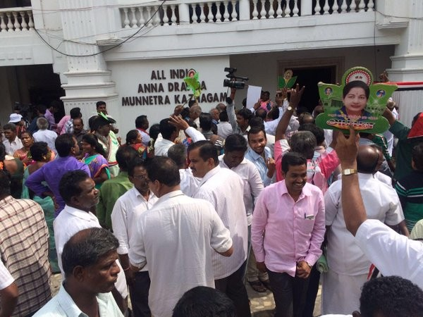 Tamil Nadu Assembly elections,Tamil Nadu Assembly elections 2016,Tamil Nadu Assembly elections live,live Tamil Nadu Assembly elections,Tamil Nadu Assembly elections result,Jayalalithaa,Karunanidhi,Vijayakanth,AIADMK supporters,AIADMK