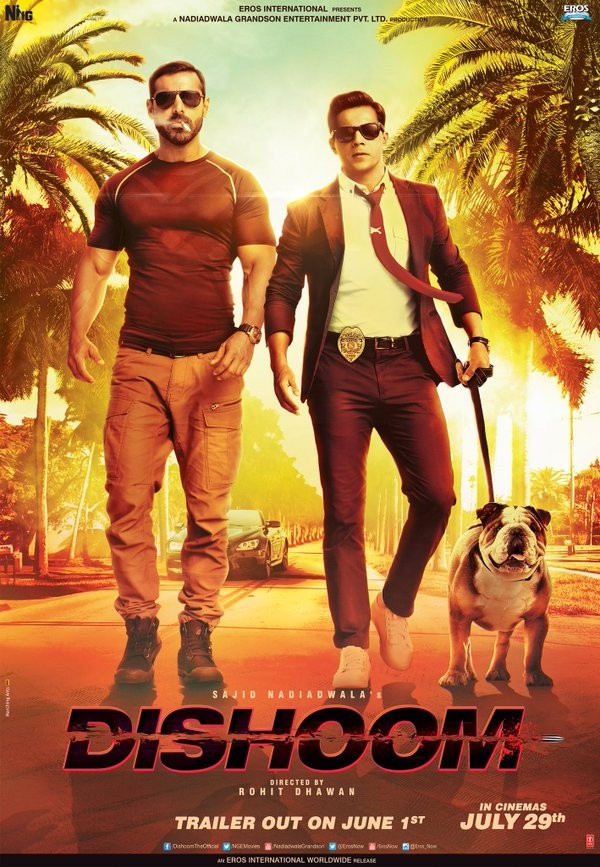 Dishoom,Dishoom first look,Dishoom first look poster,Varun Dhawan,John Abraham,Dishoom poster