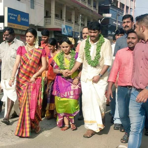 Keerthy Suresh At Her Sister Revathys Wedding
