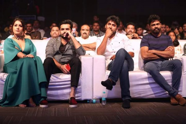 Ram Pothineni Raashi Khanna Nani At Hyper Trailer Launch