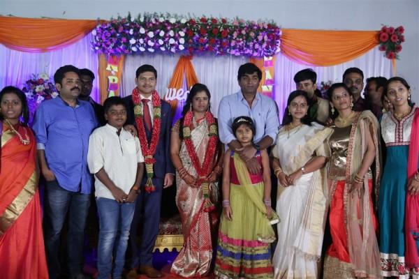 Vijay Sethupathi MK Stalin Kanimozhi Udhayanidhi Stalin At Seenu Ramasamys Sister Wedding