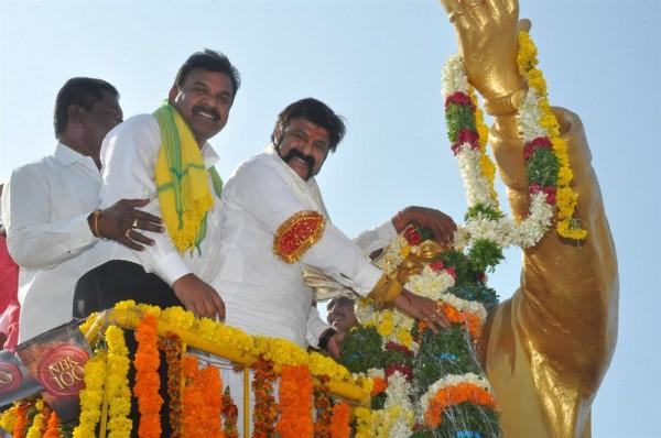 nandamuri balakrishna at ntr statue karimnagar photos