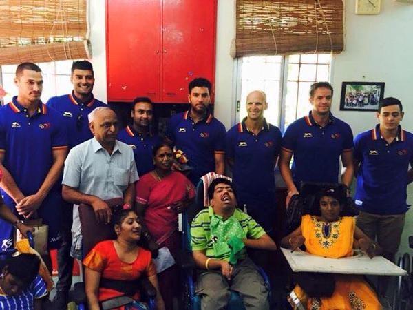 Ipl 2015,DD vs CSK,delhi daredevils,Chennai Super Kings,delhi daredevils vs chennai super kings,DD visits differently abled children