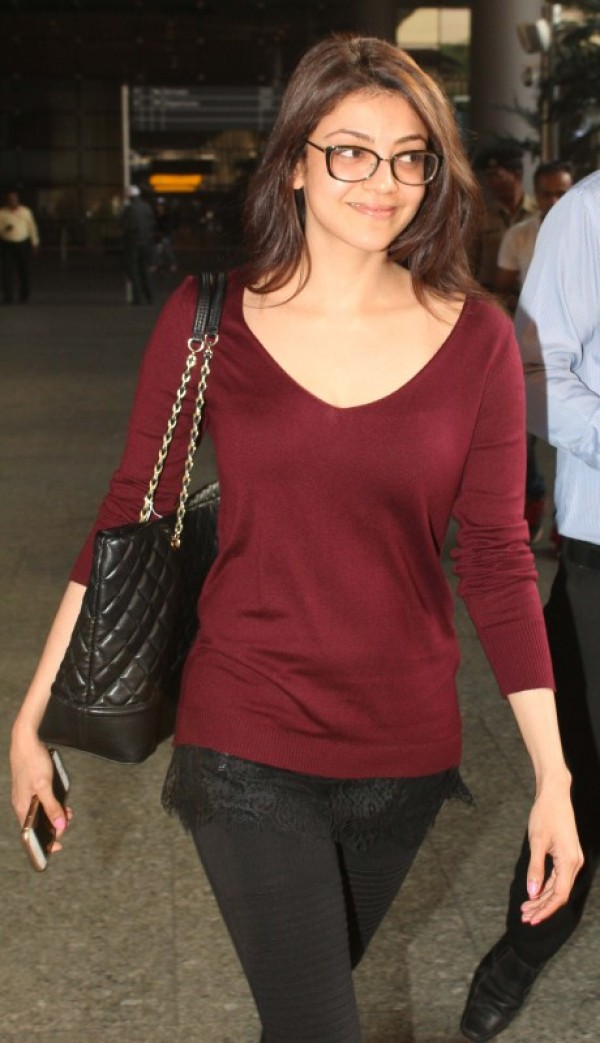 Kajal Aggarwal Spotted At Mumbai Airport Photos Images Gallery 56356