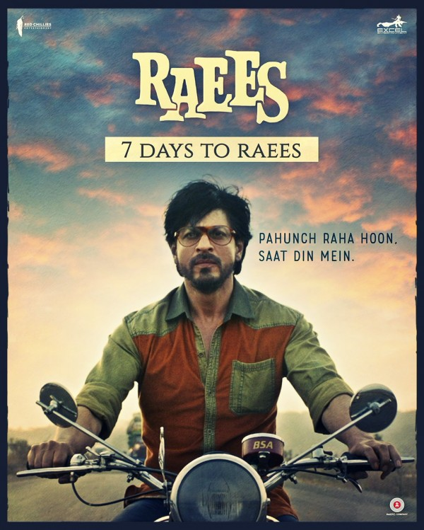 Shah Rukh Khan's Raees movie poster - Photos