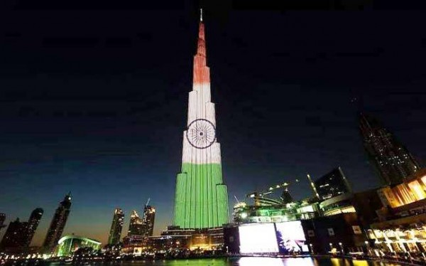 68th Republic Day: Burj Khalifa lights up in colours of