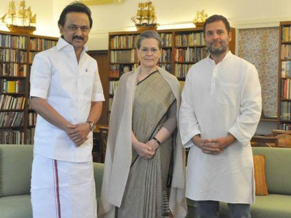 Image result for Tamil Nadu, MK Stalin, Stalin Rahul Gandhi, sonia gandhi