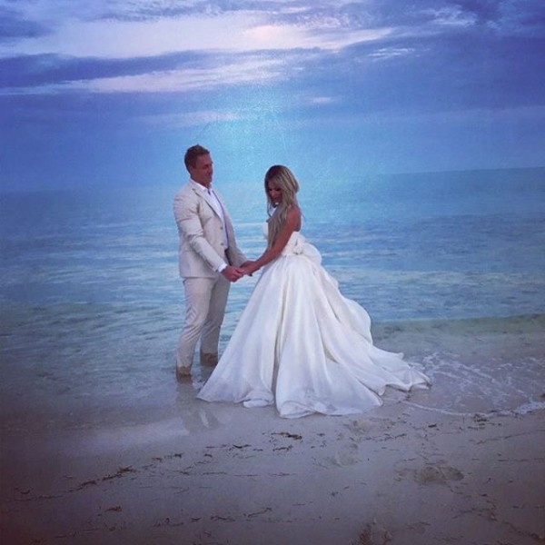 Kim Zolciak Wedding Jumpsuit bigking keywords and pictures