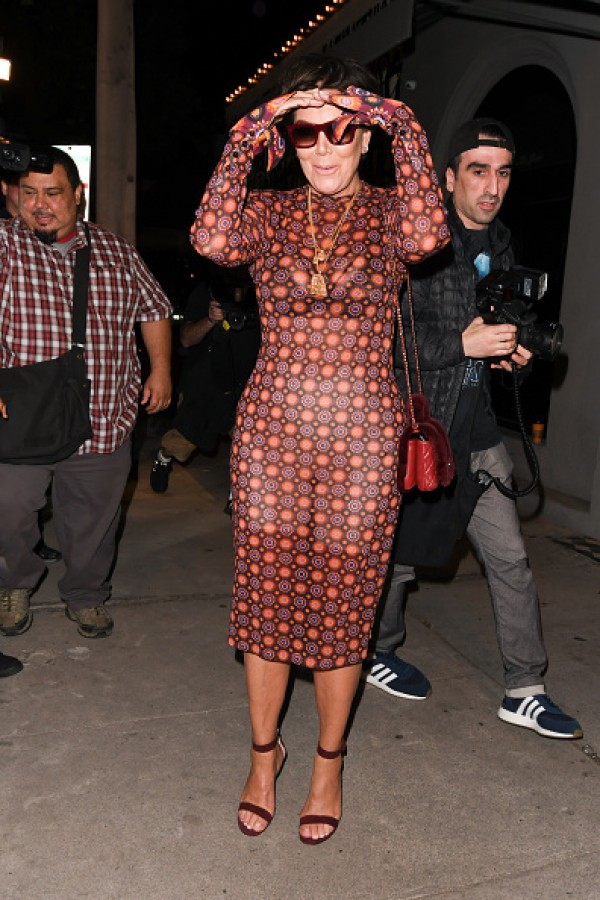 Momager Kris Jenner Looks Flawless In A See Through Dress