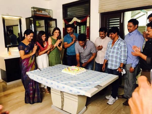 Kajal Agarwal Kalyan Ram Celebrate Director Upendra