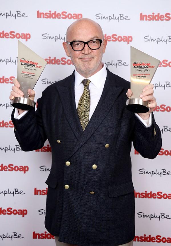 Demi Leigh Neil Peters >> Neil Jones, Connor McIntyre, Gillian Kearney, Jennifer Metcalfe at the Inside Soap Awards 2017 ...