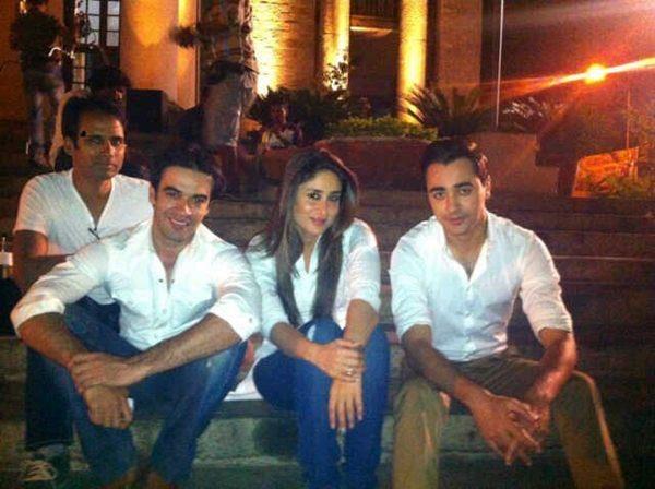 Kareena Kapoor, Imrran Khan and Punit Malhotra on the sets of GTPM