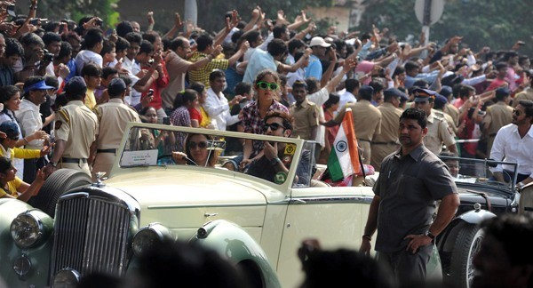 Ranbir Kapoor at Mumbai's Republic Day parade
