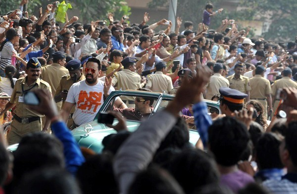 Salman Khan at Mumbai's Republic Day parade