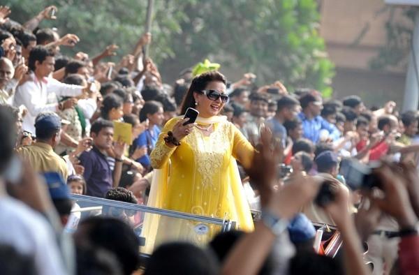 Poonam Dhillon at Mumbai's Republic Day parade
