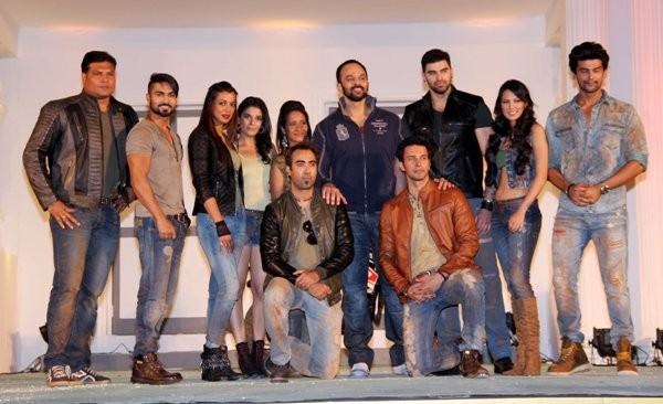 Contestants of Fear Factor: 'Khatron Ke Khiladi 5' attend a press conference in Mumbai