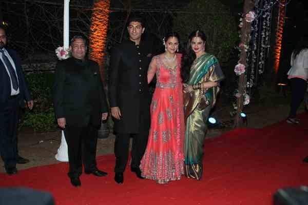 Ahana Deol and Vaibhav Vora's Wedding Receiption