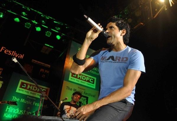 Farhan Akhtar live concert at Kala  Ghoda Art Festival