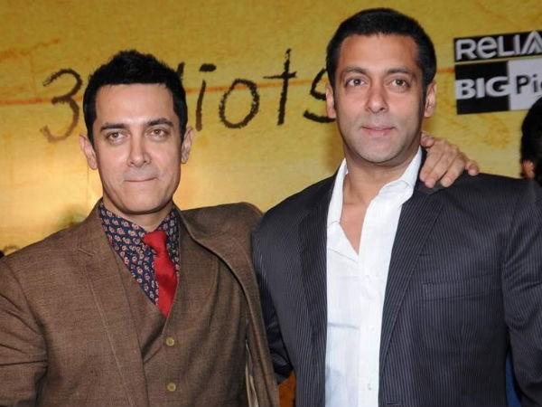 Aamir Khan with Salman Khan