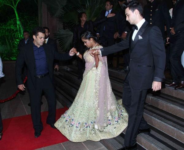 Salman Khan, Arpita Khan & Aayush Sharma