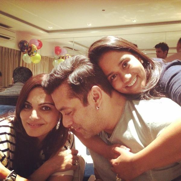 Alvira Khan, Salman Khan and Arpita Khan