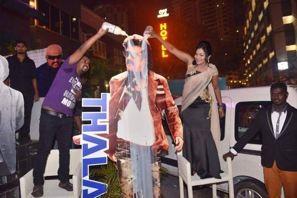 Rajinikanth Mania at its Peaks in Theatres Screening 'Lingaa'