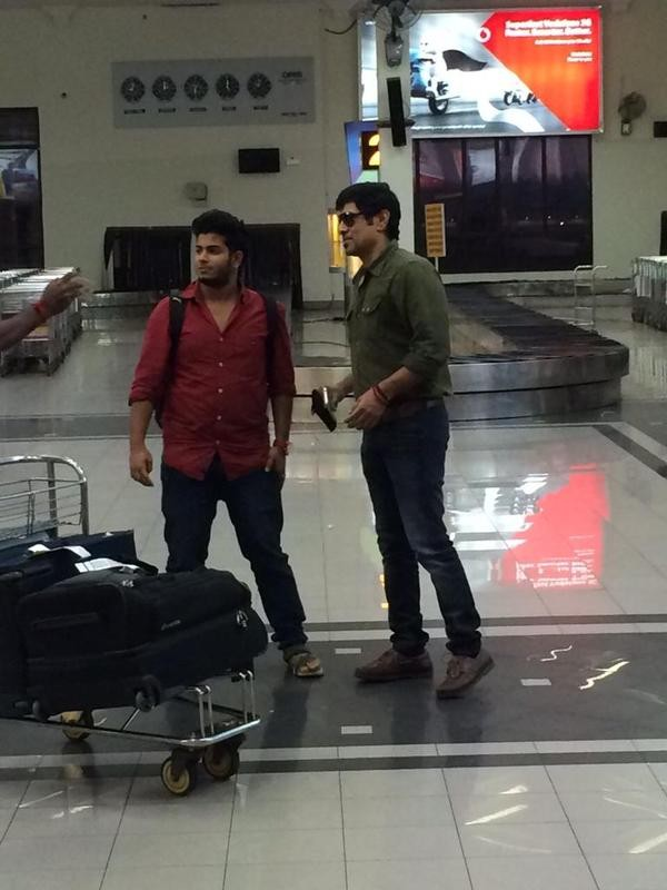 Vikram arrives in Cochin International Airport