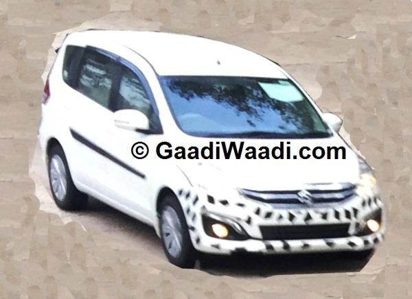 Maruti Ertiga Facelift Spied Virtually Undisguised; Expected Price, Launch, Feature Details