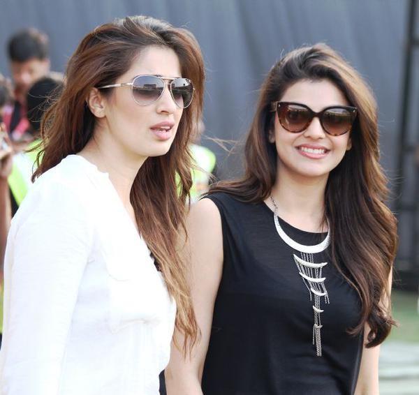 Raai Laxmi and Kajal Aggarwal
