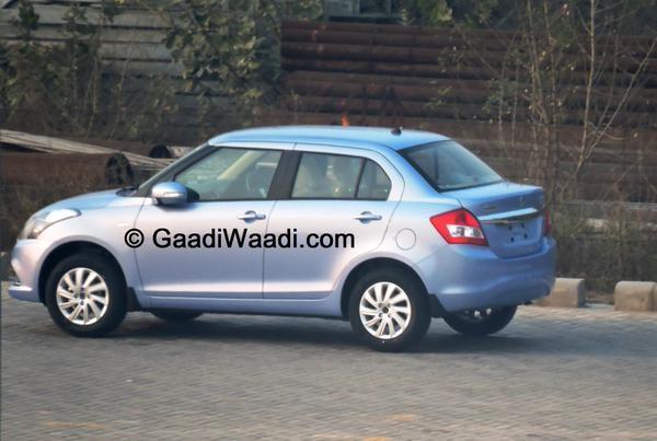 Maruti Suzuki Swift Dzire Facelift Spy Pics Continue to Roll in as Launch Nears