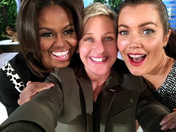Michelle Obama with Ellen DeGeneres