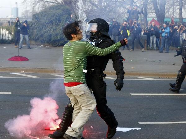 Blockupy' anti-capitalist protester