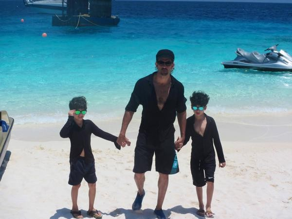 In Pictures: Hrithik Roshan's Happy Moments with his Sons at Maldives