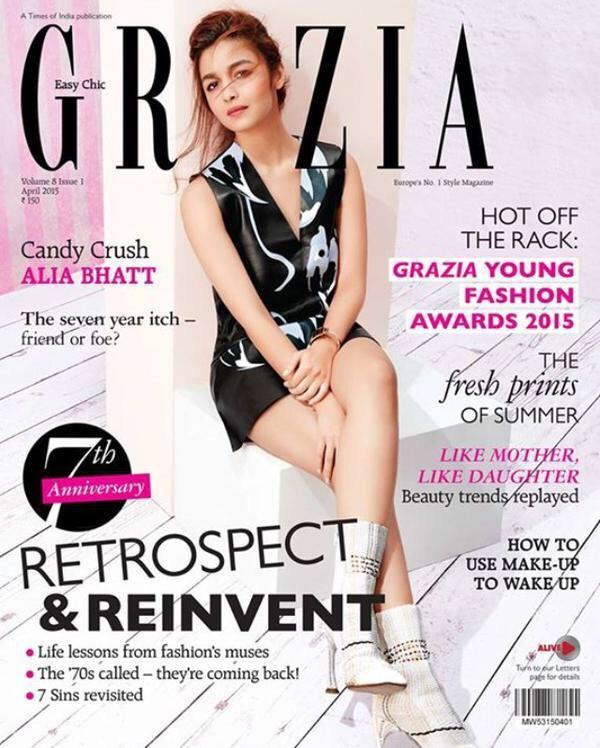 Alia Bhatt featured in the cover page of Grazia