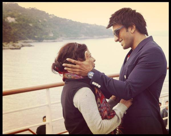 Ranveer Singh and Zoya Akhtar during the shooting of 'Dil Dhadakne Do'