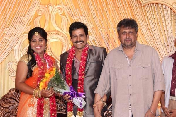Dharani at Vidharth's Wedding Reception