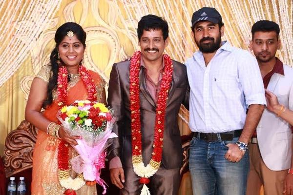 Vijay Anthony at Vidharth-Gayathri Devi Wedding Reception.