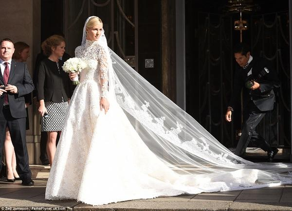 Nicky Hilton on her wedding day
