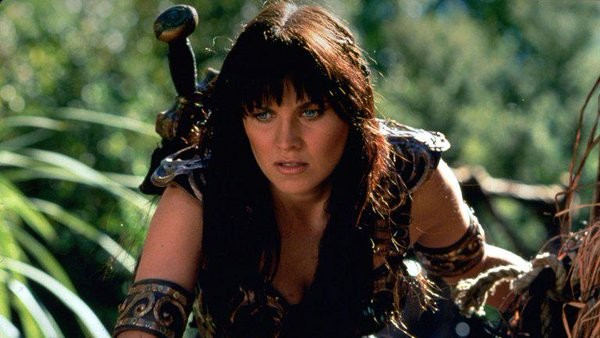 Lucy Lawless as Princess Xena in 'Xena: Warrior Princess'