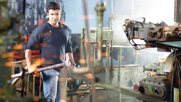 The Puneeth Rajkumar-starrer does well at box office on its first day. Pictured: A movie still from