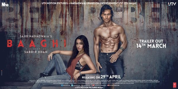 Shraddha Kapoor and Tiger Shroff in 'Baaghi' poster
