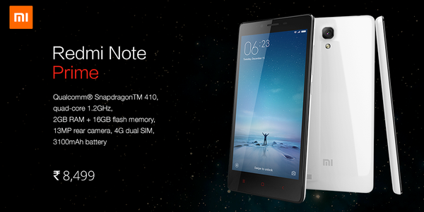 Xiaomi Redmi Note Prime launches in India for Rs. 8,499: Specs and availability