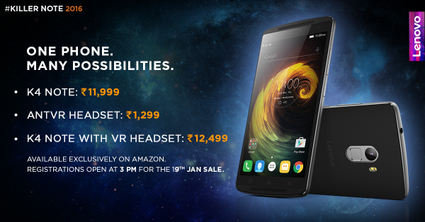 Lenovo K4 Note launch: Price starts at Rs. 11,999, ANTVR Headset costs Rs. 1,299; Specs and availability [Photos]