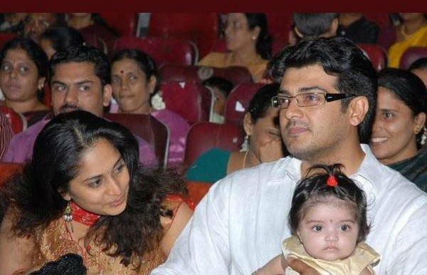 Ajith, Shalini with their Daughter Anoushka